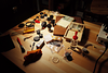 microscopy laboratory bench research science tools parts samples