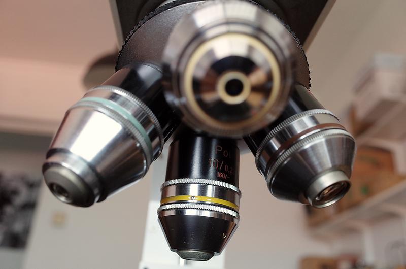 Zeiss Pol Z microscope objective polarization microscopy centering ring turret