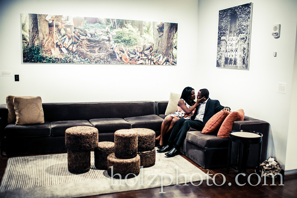engagement photos 21C hotel louisville kentucky