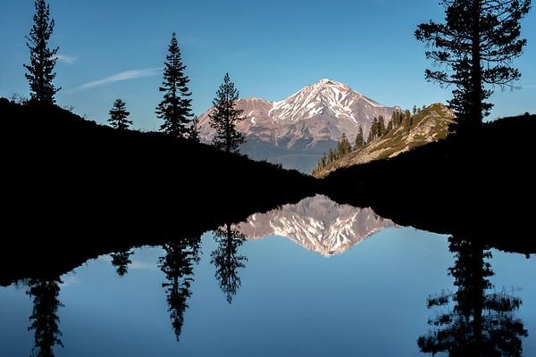 Heart Lake and Mount Shasta, Siskiyou County, CA