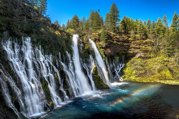 Morning Rainbow at Burney Falls, Shasta County, CA