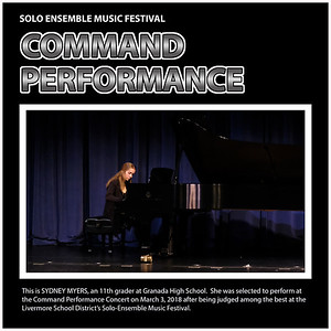 Cmd Perf - 05 GHS Piano Sydney Myers