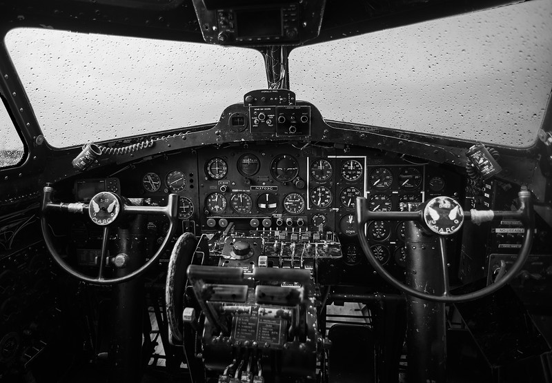 Cockpit of the B-17 Memphis Belle