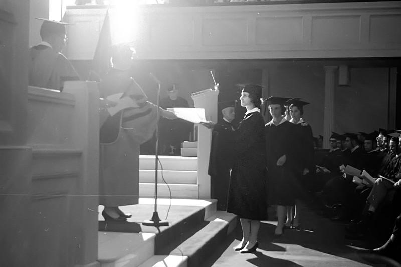 Nancy Graduating from Westhampton - June 1963