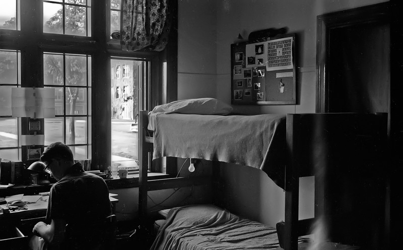 Freshman Dorm Room at WPI - Spring 1960