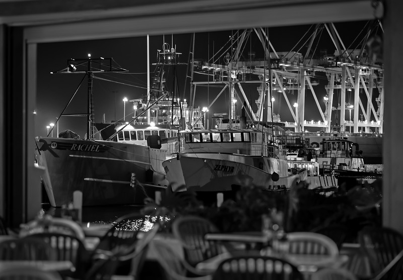 Boats at Nicco's Pier 38 Restaurant