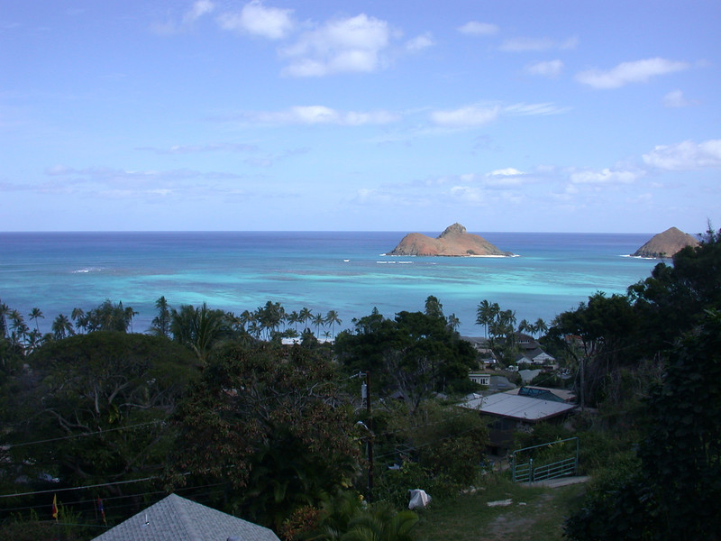 Mouluas from Lanikai Hillside