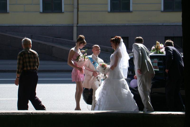 Russian Wedding in St Petersburg, Russia<br /> June 2005