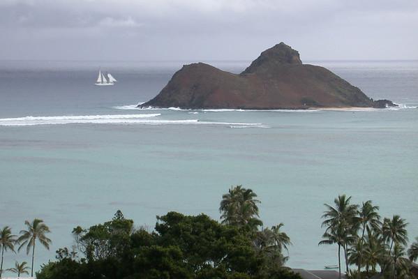 Mokulua Nui & Sailboat<br /> 2003