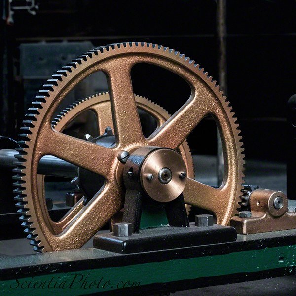 Worm Gear in the Clockworks of Baltimore's Bromo Seltzer Tower
