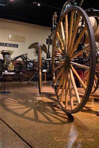 Fire Hose Carriage Wheel ca 1875