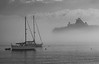 A Spielbergian Moment as a Huge Luxury Liner Appears through the Fog at Bar Harbor, Maine