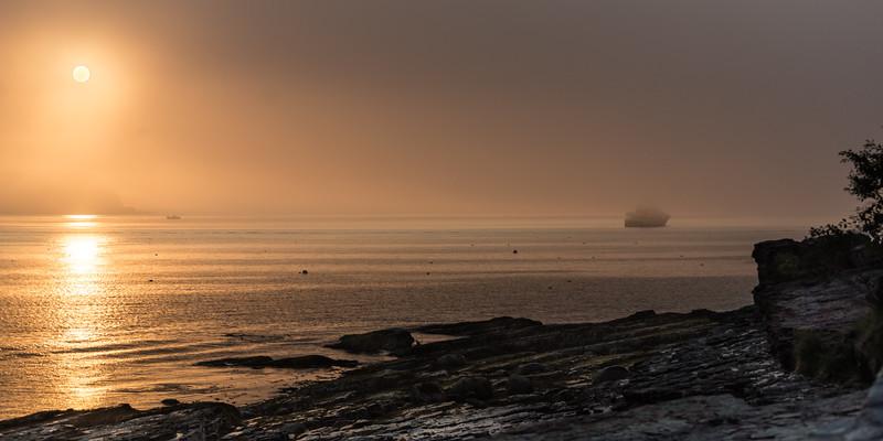 Early Morning Fog at Bar Harbor