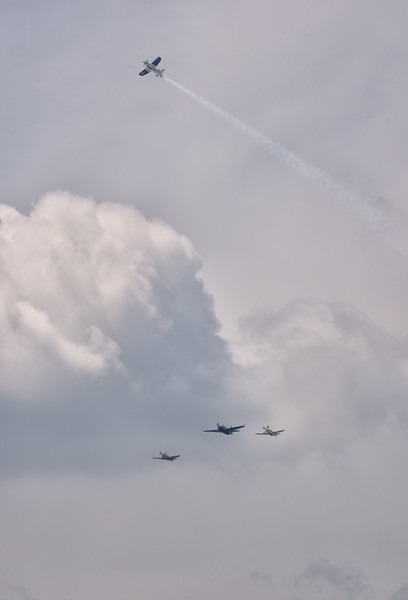 Missing Man Formation from VE-Day 70th Anniversary Celebration