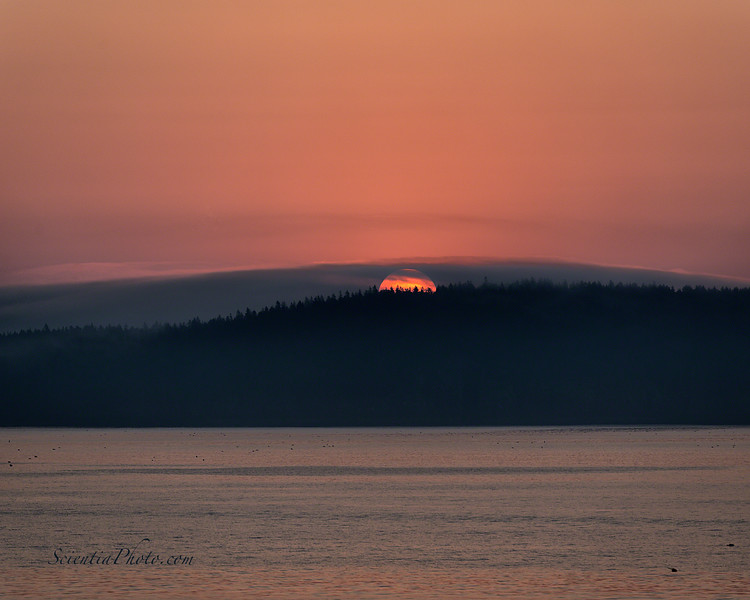 Sunrise Over the Porcupine Islands in Bar Harbor