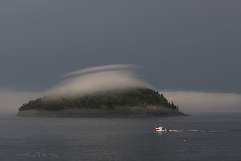 A Lenticular Cloud Hovers Over Bald Porcupine Island