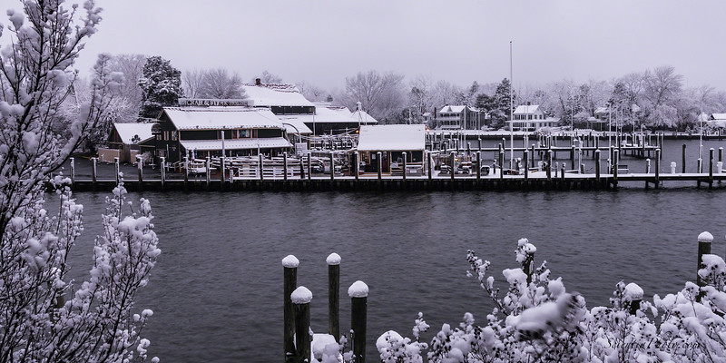 St. Michael's Town Docks in the Snow