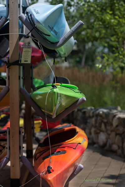Kayaks at L. L. Bean in Freeport, Maine