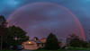Image 4 Rainbow at Sunset. Note bright reddish interior & dark band exterior.