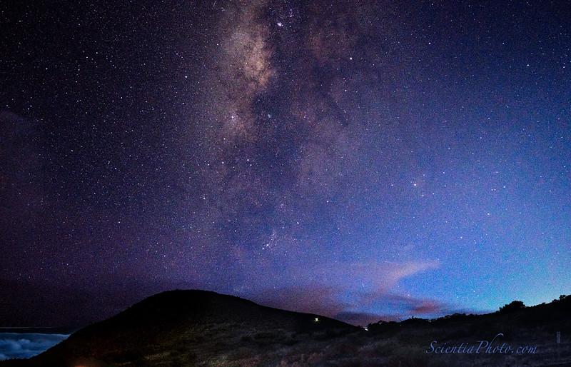 13 Summer Milky Way from Hale Pohaku @ 9,200 Ft up Mauna Kea