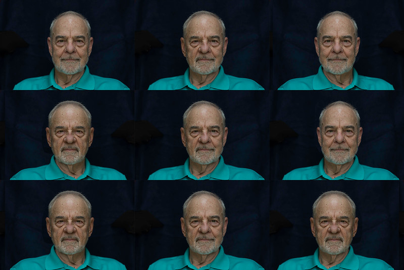 """The September NBCC competition was about symmetry. The central image is the real Johnny, the image to the left center has the right side of his face repeated as a mirror image while the one to the right of center has the left side of his face repeated as a mirror image.  The judge did not understand the image. For more information on symmetry in images see <a href=""""http://www.scientiaphoto.com/OtherCreativeWorks/Symmetry/"""">http://www.scientiaphoto.com/OtherCreativeWorks/Symmetry/</a>"""