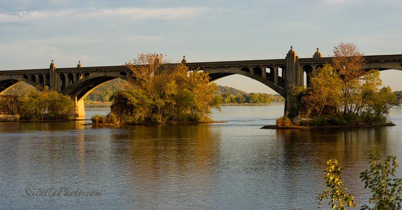 Veteran's Memorial Bridge from the John Wright Store & Restaurant