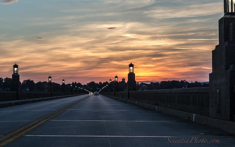 Veteran's Memorial Bridge at Sunset