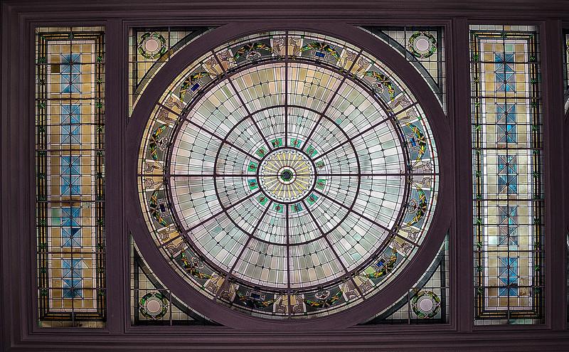 Ceiling of Penn Station in Baltimore