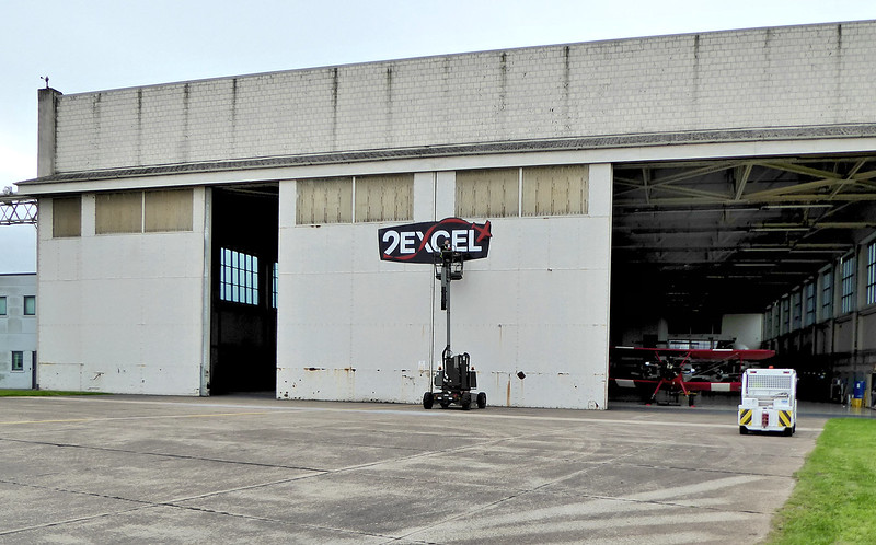 New signage on the other end of Hangar 3 ...........29th August 2017.<br /> By Correne Calow.