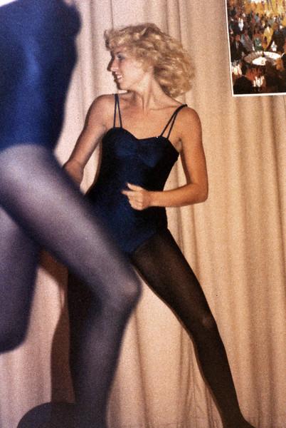 Linda Ray School of Dance recital at Southeast High School. Late 1970s. This is Mitzi Hemphill.
