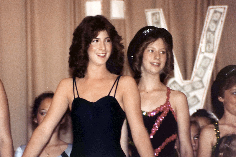 Linda Ray School of Dance recital at Southeast High School. Late 1970s. Missy Brown in front.