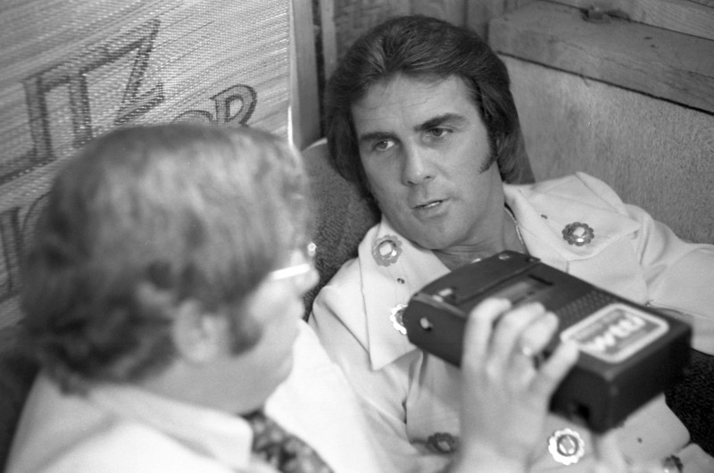 """Ever have the urge to sing along with """"Plug it In, Plug it In"""" on the Glade Air Freshener commercials? You can thank country-rock singer Billy """"Crash"""" Craddock's hit """"Rub it In."""" Here he is being interviewed by WTTI Radio's Ron Arnold in the late 70s. Craddock was performing at Fort Mountain Frontier Lands, a replica wild west town near Chatsworth, Georgia."""