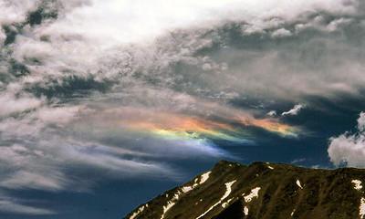 Noctilucent clouds: Minarets Wilderness. (August 1980)