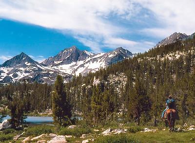 A day on the trail: Thousand Island Lake, Sierra Nevada. (June 1979)