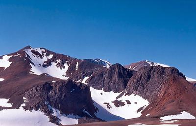 10,000 feet up and still climbing: near Koip Pass, John Muir Wilderness. (June 1974)