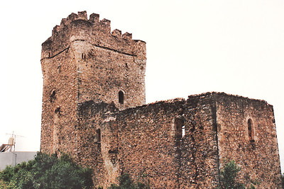 A typical Mani Tower, located near Gythio on the Mani Peninsula of Sparta.   During the Ottoman invasion (circa 1770) of the Peloponnese Peninsula, the Maniots had a reputation as proudly independent warriors. They lived in fortified villages and house-towers where they defended their lands against the Ottomans until 1827, when the Ottoman invasion of Greece was stopped by the combined forces of Great Britain, France, and Russia at the Battle of Navarino at modern-day Pylos on the west coast of the Peloponnese Peninsula.