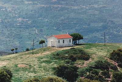 Hilltop chapel, Laconia Province, Peloponnesus.