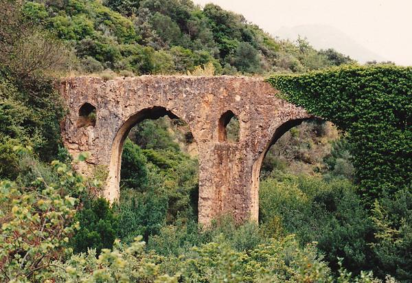An overgrown aqueduct, Achaea, Peloponnesus.