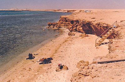 "SCUBA entry ""beach"" at Shuaybah Camp, near Al Lith, Saudi Arabia."