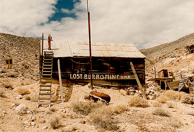 The old Lost Burro Mine, Death Valley, California (near Racetrack Valley).