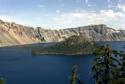 Wizard Island in Crater Lake, Oregon.