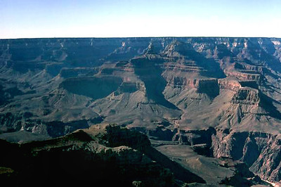 One-third of the way to the canyon bottom: Day One of my hike to the bottom of the Grand Canyon.  5 March 1972