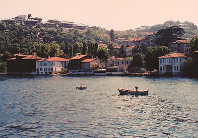 Ottoman Era waterfront houses on the Asian Side of the Bosporus.