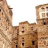 Unmortared masonry buildings of the mountain village of Harajah, northern Yemen.
