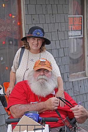 Frank Lee & Connie Breitbeil in Front of Bullock's Soul Food Cafe, at the 2008 King Biscuit Blues Festival - Helena, Arkansas