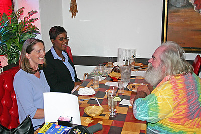 Frank Lee  lunching with former co-workers Allison & Lynda at the Mexican Village restaurant in Detroit (2004)