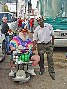 Frank with the famous Delta Blues drummer - Sam Carr at the 2003 King Biscuit Blues Festival in Helena Arkansas