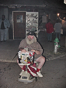 King Biscuit Blues Festival - 2001  Frank Lee in front of Bullock's Soul Food Cafe, Helena Arkansas