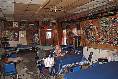Inside Bullock's Cafe in Helena Arkansas during the 2008 King Biscuit Blues Festival