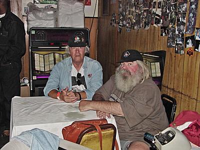 King Biscuit Blues Festival - 2001.  Frank Lee & Don McGhee inside Cora Bullock's Soul Food Cafe in Helena Arkansas